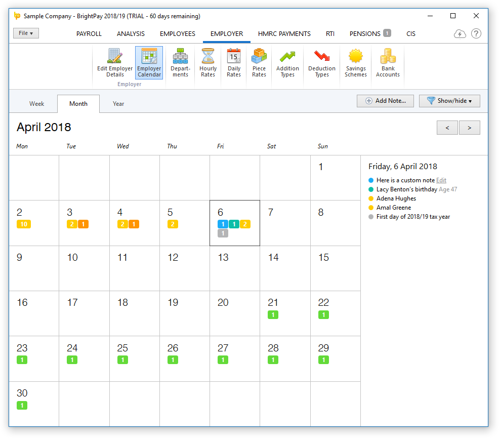 Brightpay 2018/19 Is Now Available. What's New? – Brightpay with L Brands Payroll Calendar