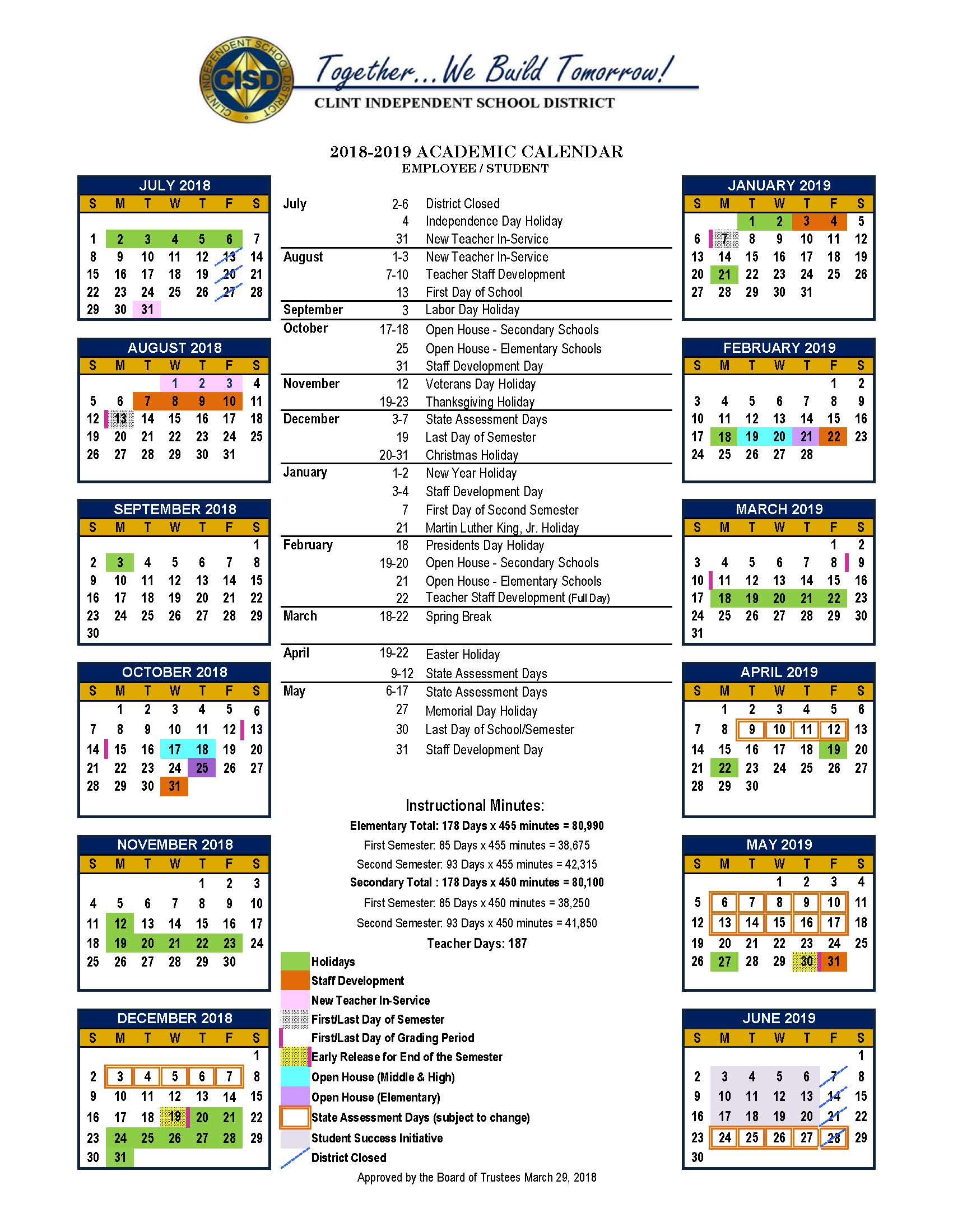 Clint Independent School District / Homepage pertaining to Yisd Payroll Calendar