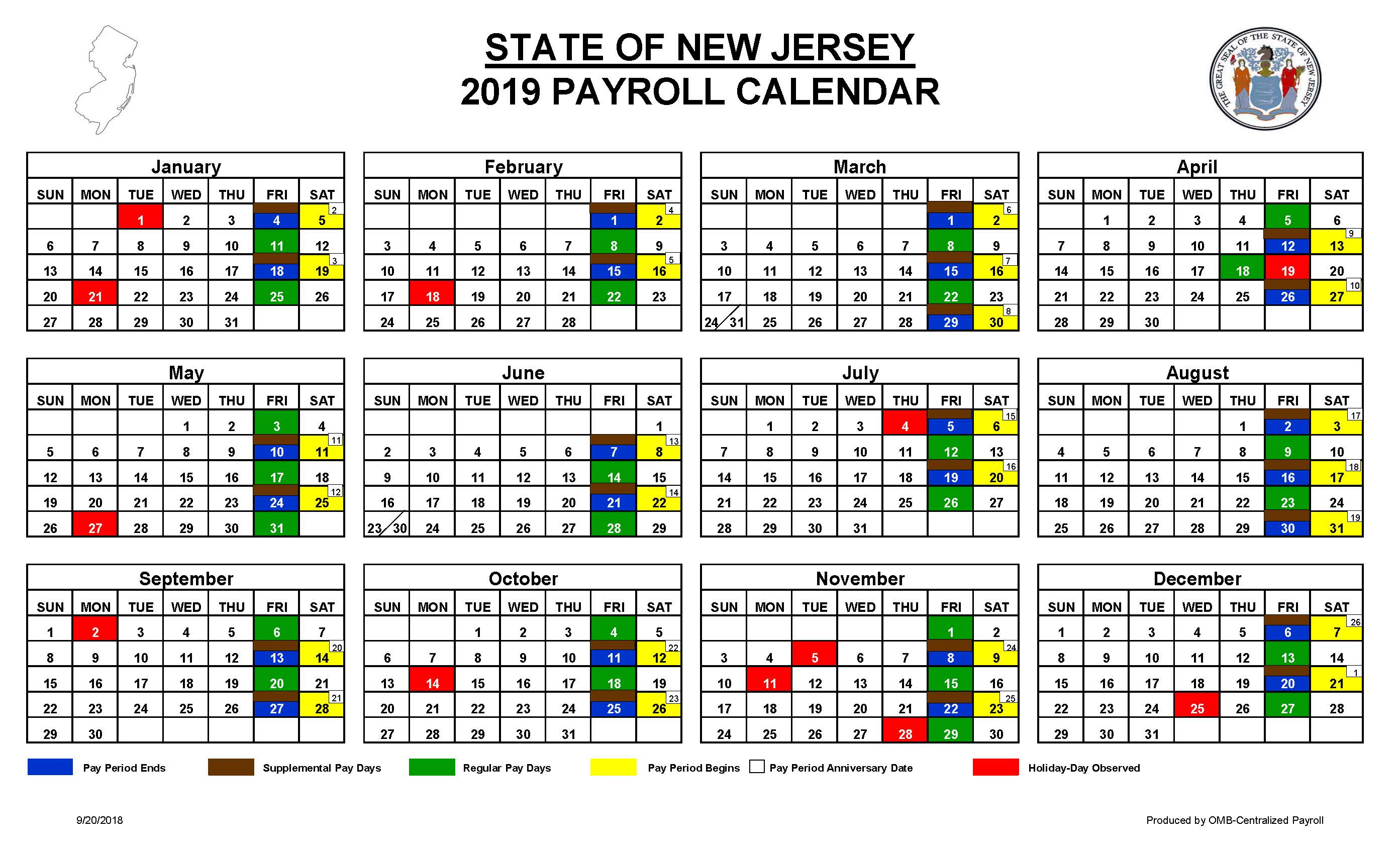 Contract | Cwa Local 1033 intended for Nj Payroll Calendar 2015