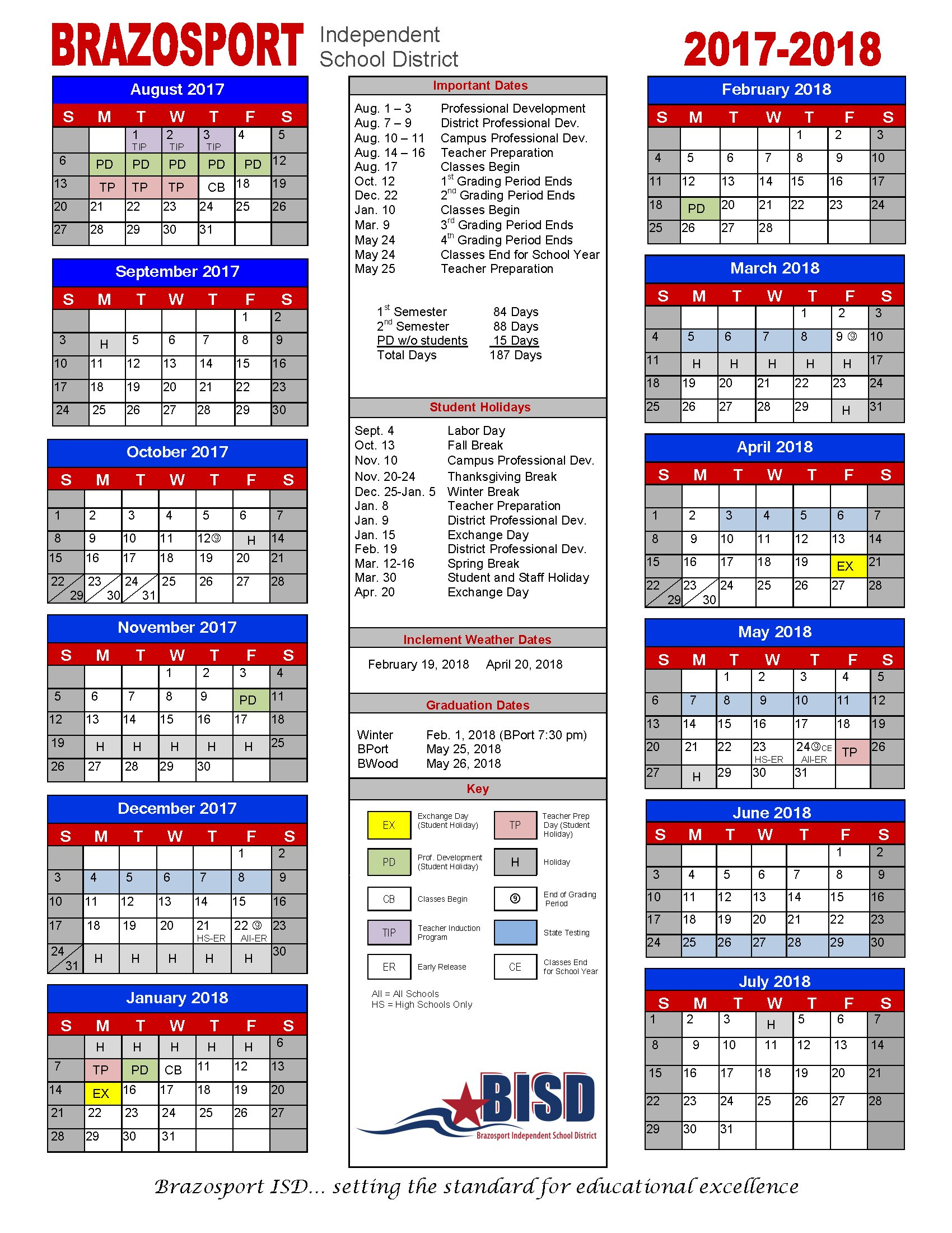 Galena Park Isd Calendar 2018 2019 To Download Or Print within Payroll Calendar Galena Park Isd