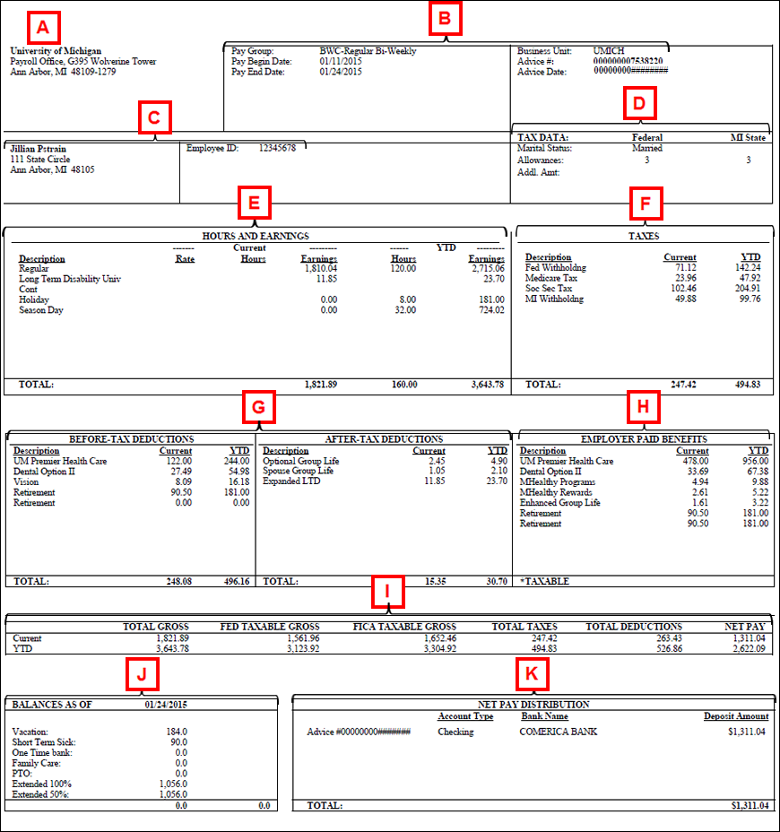 Help: View Your Paycheck in Payroll Calendar Umich