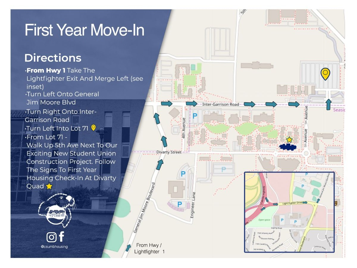 Move-In Information   Cal State Monterey Bay intended for Payroll Calendar Csumb