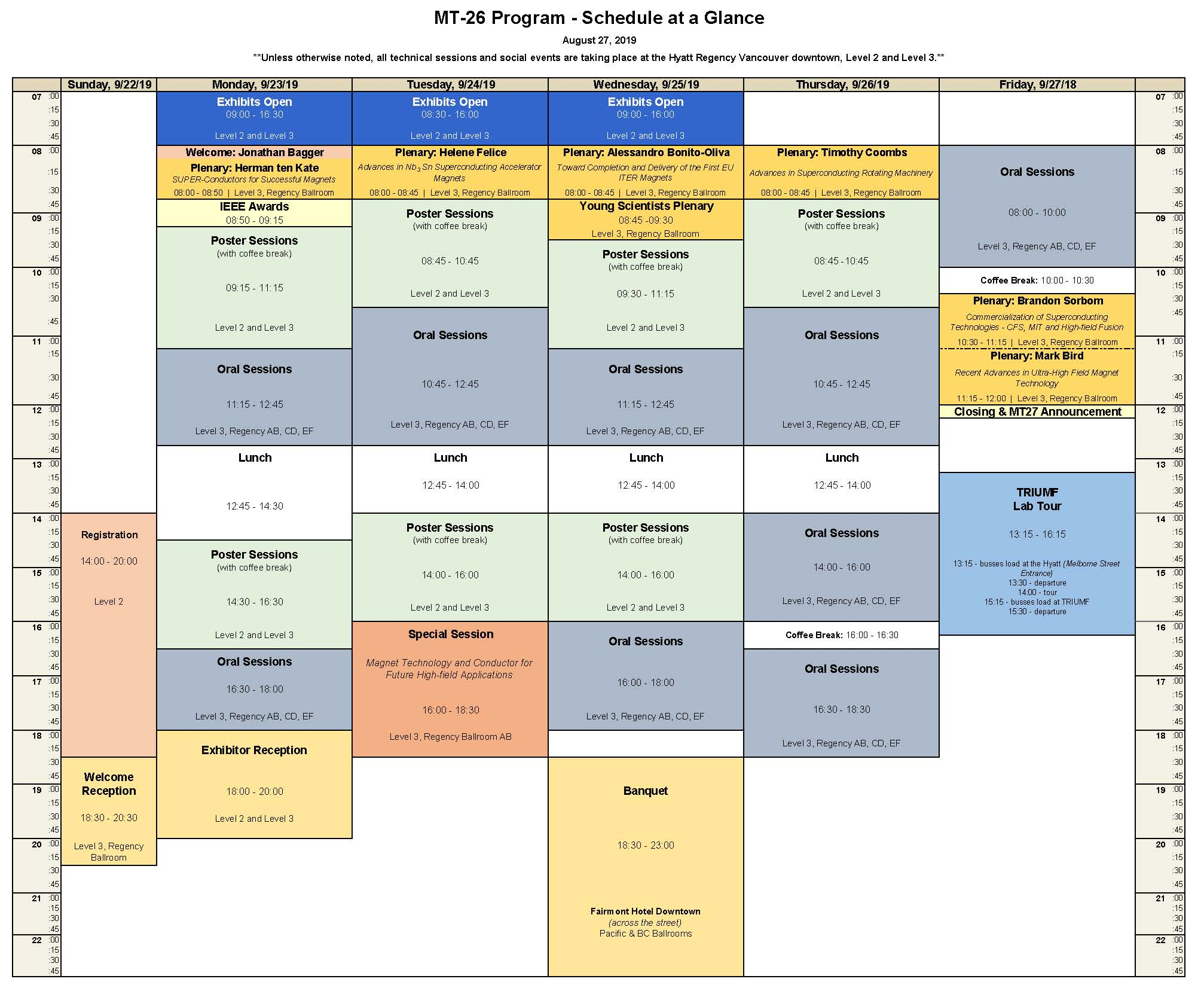 Mt26 Abstracts, Timetable And Presentations (22-27 September within Accra Care Payroll Calendar 2020
