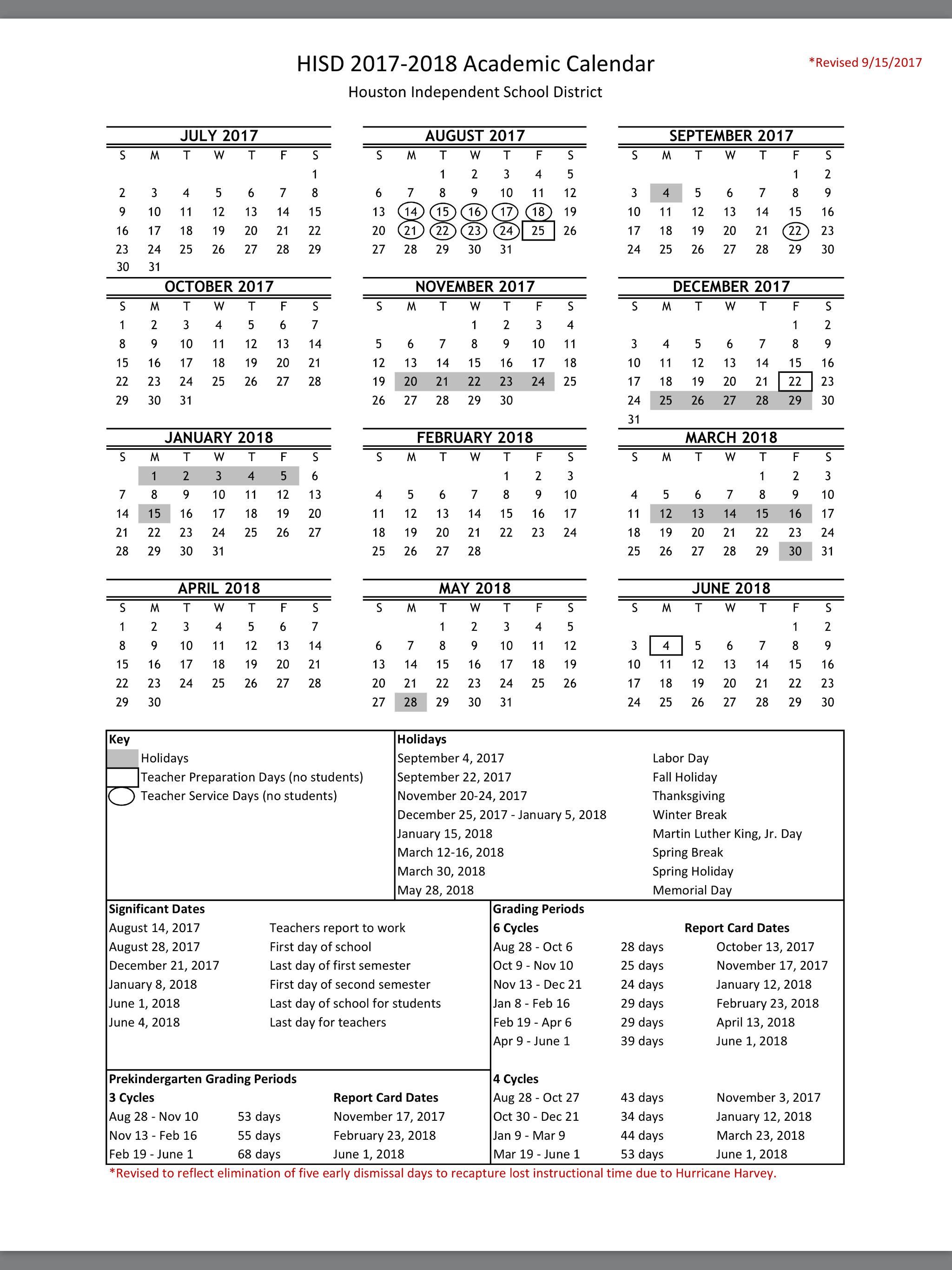No More Early Dismissal Days: Here's The New Hisd 2017-18 with regard to Payroll Calendar Hisd