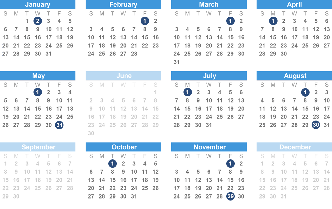 Opers Benefit Payment Schedule with At&t Payroll Calendar