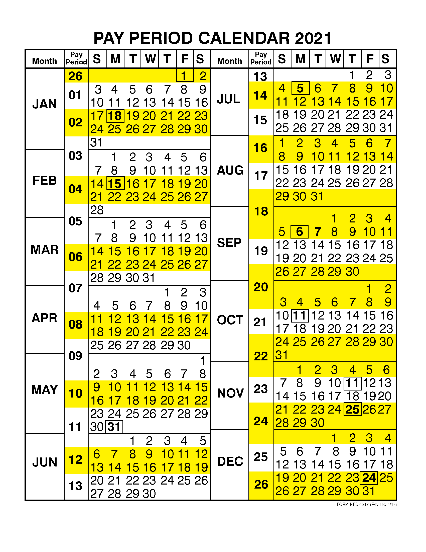 Pay Period Calendar 2021 By Calendar Year | Free Printable with regard to Federal Government Pay Calendar 2020 Opm