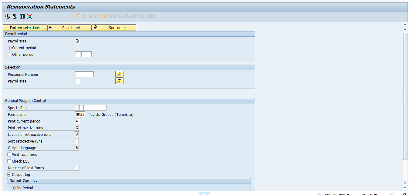 Pc00_M45_Cedt Sap Tcode : Payroll Driver (International intended for Tcode For Payroll Calendar