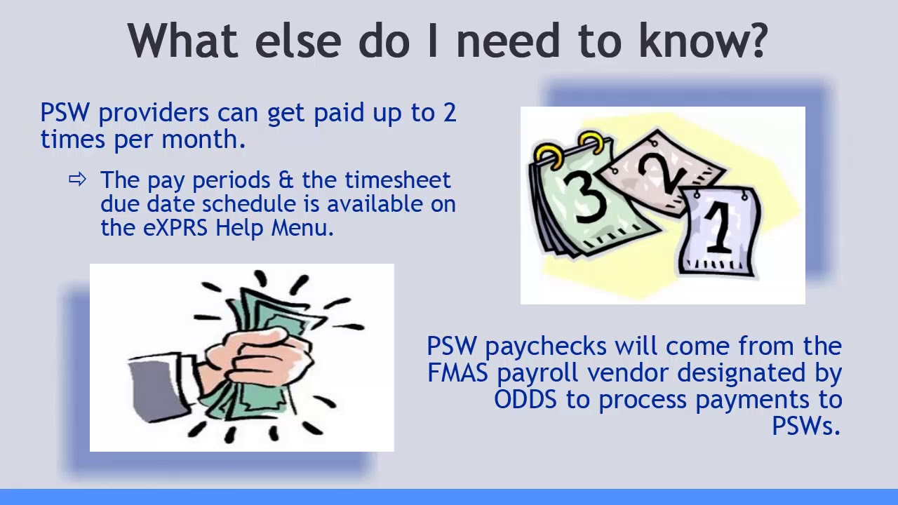 Psw Orientation Video #1 General Exprs Overview in Oregon Psw Payroll Calendar 2020