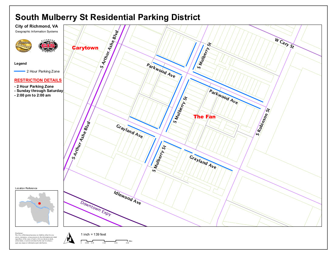 Richmond Va > Public Works > Parking > South Mulberry District intended for Vdh Payroll Calendar