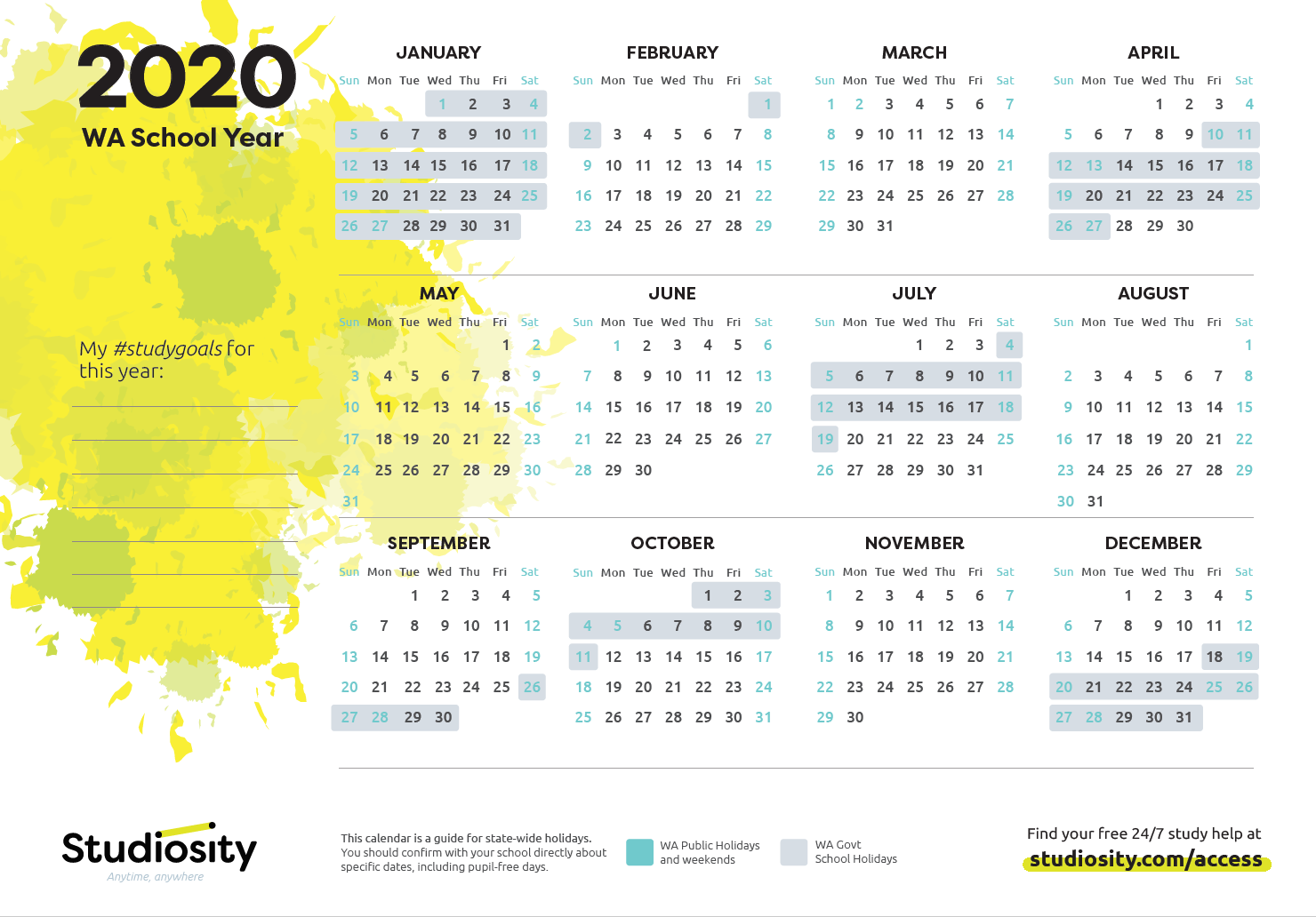 School Terms And Public Holiday Dates For Wa In 2020 throughout Fortnightly Pay Calendar 2020 Australia