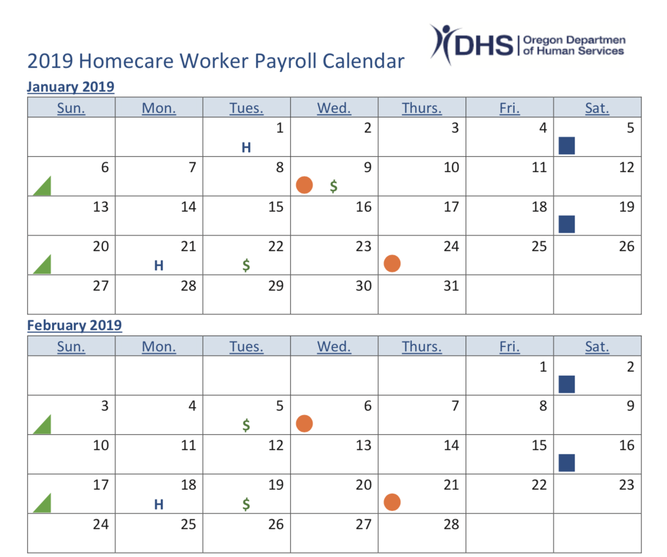 Seiu503 Local | Have You Seen The 2019 Pay And Voucher Schedule? for Hcw Payroll Calendar Oregon