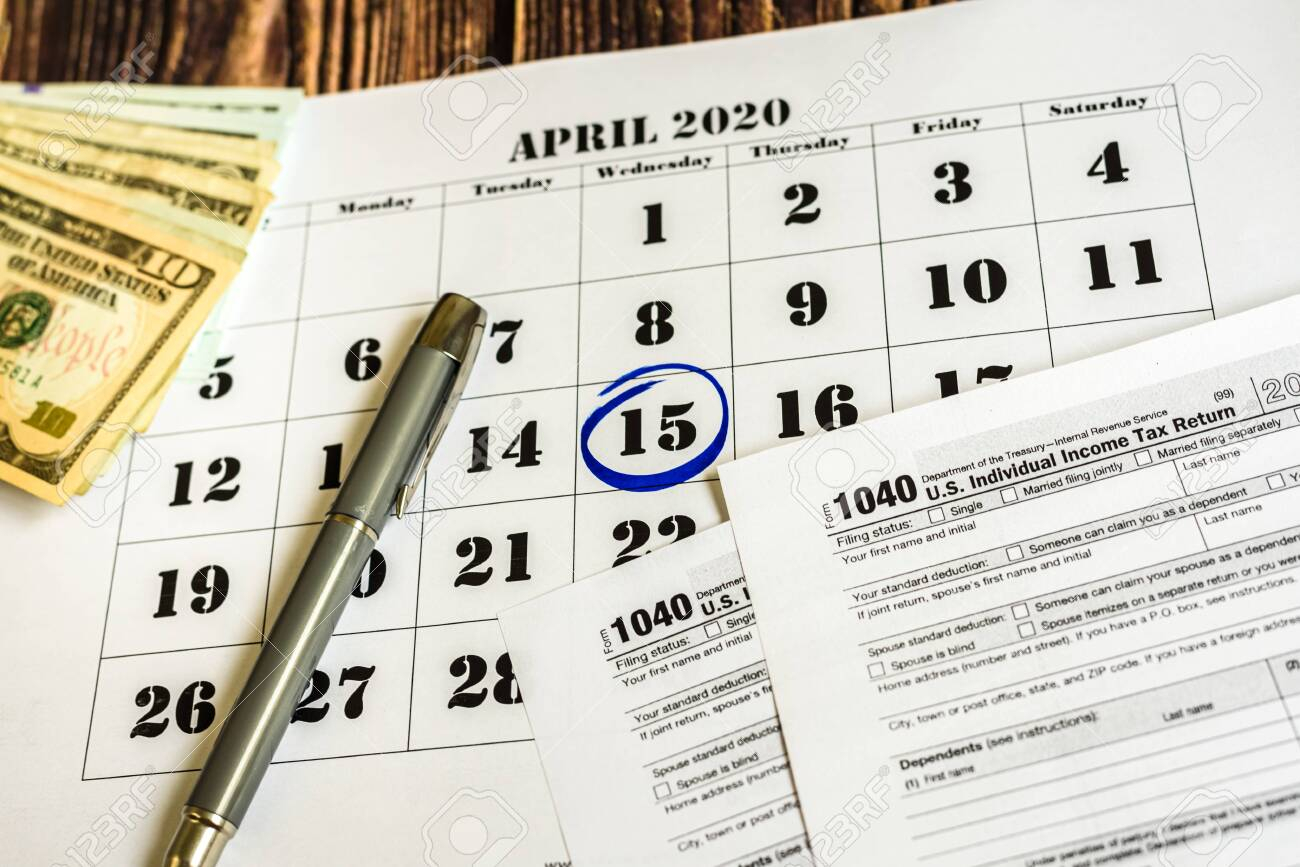 Tax Payment Day, Marked On A Calendar On April 15, 2020 throughout Irs Payroll Calendar 2020