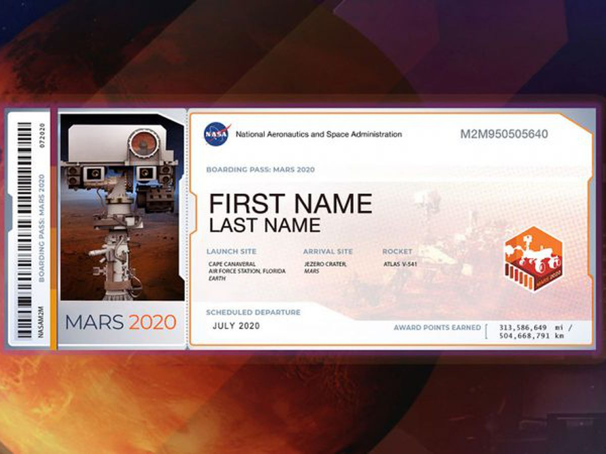 Your Name Can Go To Mars, But You Must Act Now within 2020 Payroll Calendar Nasa